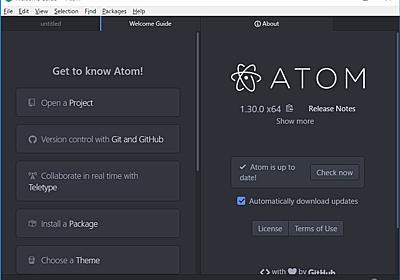 """""""GitHub""""との統合を深めた無償コードエディター「Atom 1.30」が正式公開 - 窓の杜"""