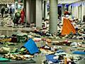 【ドイツ悲報】中東難民が通り過ぎたミュンヘン駅がゴミだらけに|保守速報