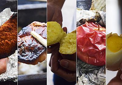 銭湯の重油ボイラーで芋やリンゴやファミチキを焼いてみる :: デイリーポータルZ