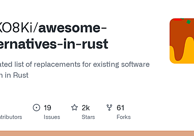 GitHub - TaKO8Ki/awesome-alternatives-in-rust: A curated list of replacements for existing software written in Rust