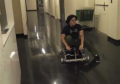 疾走する手作り「ちびカート」:動画 WIRED.jp