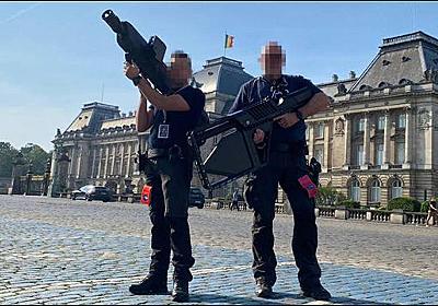 ベルギーのフィリップ国王とバイデン大統領の会談を警備する対ドローン班の装備がものすごくSF感高いと話題に - DNA