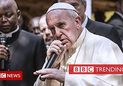 Twitter turns Pope Francis into a rapper with #PopeBars - BBC News