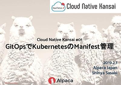 GitOpsでKubernetesのManifest管理