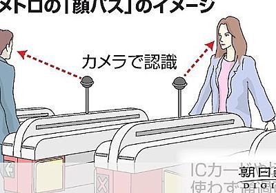 地下鉄は「顔パス」で 大阪メトロ全駅、万博までに:朝日新聞デジタル