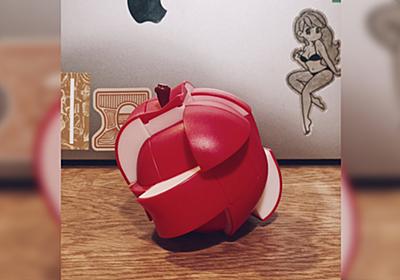 新青森駅で買った『りんごのルービックキューブ』が可愛いけどもう元に戻らない…!「戻せなくてもなんだか芸術的」 - Togetter