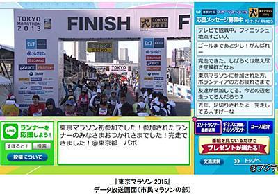 フジテレビ、「東京マラソン」全完走者のゴールシーンを配信。LINEも活用 - AV Watch