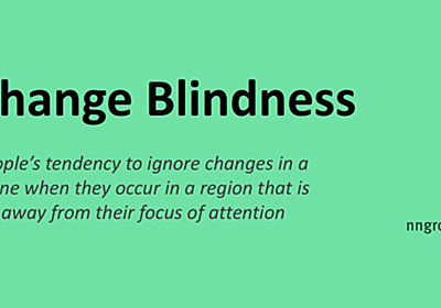 Change Blindness in UX: Definition