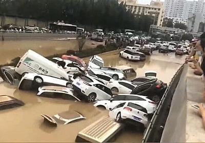 痛いニュース(ノ∀`) : 中国、鄭州の長さ4kmのトンネルが5分で冠水、6000人死亡か 深夜に何台ものトレーラーが遺体を運び出す - ライブドアブログ