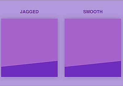 CSSで実装した斜めのラインがギザギザになってしまうのを回避し、滑らかなラインで実装するテクニック | コリス