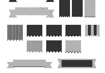 シンプルなリボンベクターセット「Minimal Vector Ribbons」 | DesignDevelop