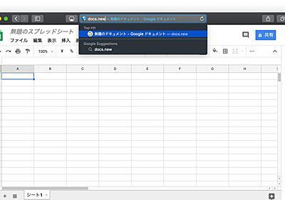 Google、新しいGoogleドキュメントをすばやく作成できる「.new ドメイン」を公開。   AAPL Ch.