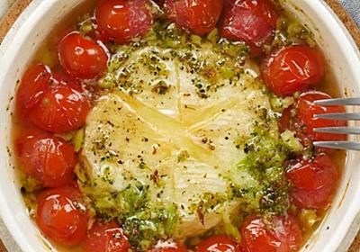 無限にバゲット!トマトと丸ごとカマンベールチーズアヒージョ - macaroni