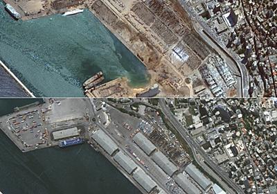 レバノン首都、爆発前後の現場を写真で比較 写真8枚 国際ニュース:AFPBB News