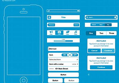 Fireworksで編集できる、iOS6ワイヤーフレーム「Adobe FW Template For IOS 6 Wireframing」   DesignDevelop