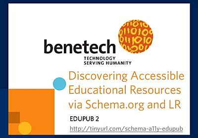 Discovering Accessible Educational Resources via Schema.org and the L…