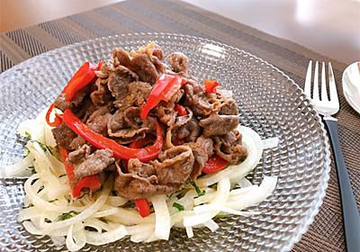 牛肉とパプリカの香味ダレサラダ【#牛肉 #パプリカ #香味ダレ #作り置き #レシピ】 - からだ元気になるおうちごはん♪