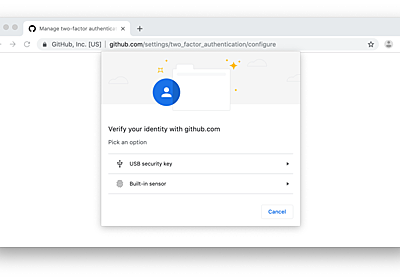 GitHub supports Web Authentication (WebAuthn) for security keys - The GitHub Blog
