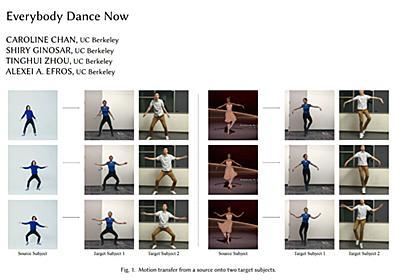 素人がプロ並みに踊る動画を作れるGAN採用システムのデモ動画 - ITmedia NEWS