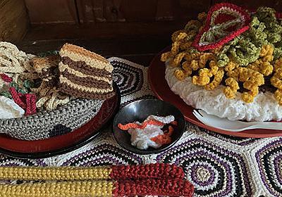 沖縄の編み物作家は毛糸で沖縄そばを編む :: デイリーポータルZ