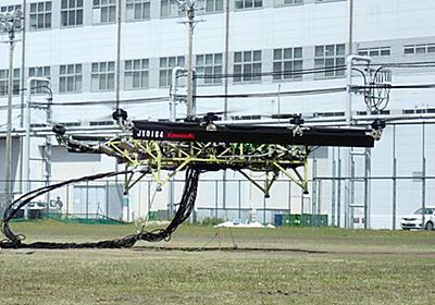 カワサキのバイク「Ninja ZX-10R」エンジン3台で発電、大型ドローン浮上成功 - AV Watch