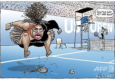 激高するセレーナの「差別的」風刺画、豪漫画家に世界中から批判の嵐 写真6枚 国際ニュース:AFPBB News