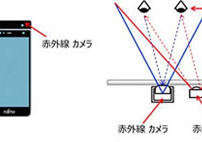 画面を「見るだけ」でロック解除 富士通、虹彩認証搭載スマホの試作機を開発 - ITmedia NEWS