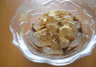きな粉が余りそうなので簡単お菓子レシピを試してみた!わらび餅風黒蜜きな粉がけ - ゆきのココだけの話