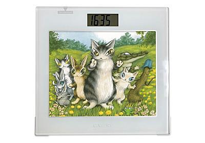 猫のダヤンをモチーフにした時計としても使える体重計 - 家電 Watch