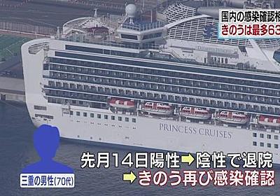 陰性で退院 12日後に再び感染を確認 クルーズ船乗客 三重   NHKニュース