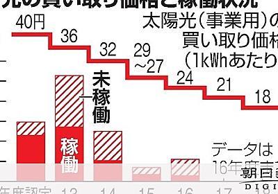 太陽光買い取り見直し検討 未稼働は認定取り消しや減額:朝日新聞デジタル
