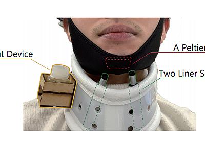口の乾燥を検知する首用ウェアラブルデバイス 熱、匂い、圧力、3つの刺激で唾液分泌を促す