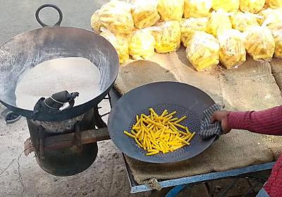 油の代わりに砂で揚げる、素晴らしくヘルシーなインドのストリートフード - グノシー