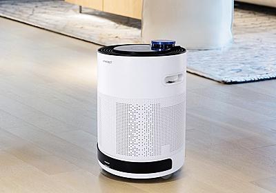 エコバックス、部屋を移動しながら空気をきれいにする自走式ロボット空気清浄機 - 家電 Watch