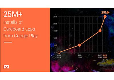 グーグルのVRゴーグル「Cardboard」、出荷数が500万台を突破 - CNET Japan