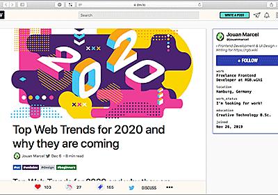 2020年、最近注目されているWebデザインのトレンドと技術の進化 | コリス