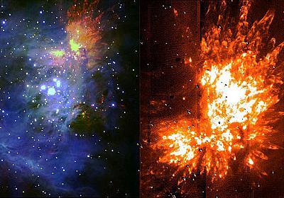 オリオン座大星雲の巨大赤ちゃん星たちが見せる宇宙花火 - アストロアーツ