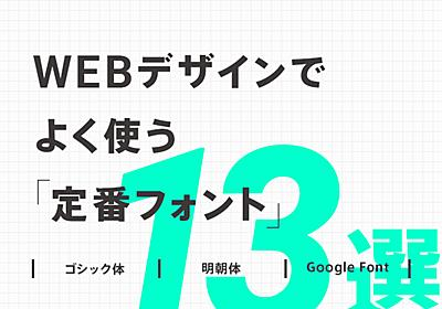 【迷ったらコレ!】Webデザインでよく使う定番おすすめフォント 13選(日本語9フォント欧文4フォント) – 東京のホームページ制作 / WEB制作会社 BRISK