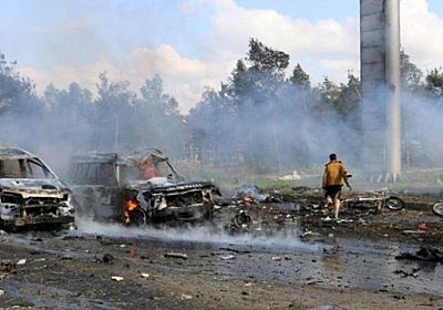 CNN.co.jp : 避難住民のバスに自爆攻撃、約100人死亡 シリア