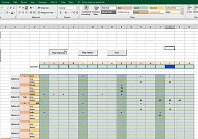 「Excel上で動くドラムマシン」を作成した猛者が登場する - GIGAZINE