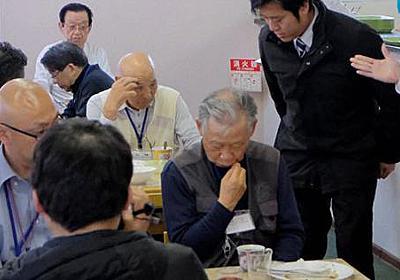 元島民ら丸山議員に反発「国会議員の態度じゃない」 コップで机をバンバン - 毎日新聞