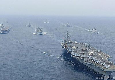 日米印豪、ベンガル湾で共同訓練