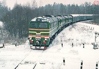 21世紀に生き残った「巨大列車砲」の子孫 シベリア鉄道走る超重量列車は何を積んだ?   乗りものニュース