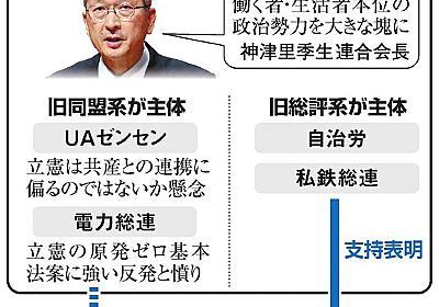 野党再結集、橋渡しなるか 連合勉強会きょう発足 産別はバラバラ:朝日新聞デジタル