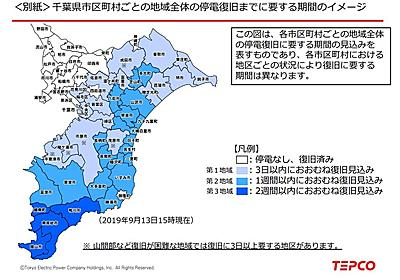 千葉県停電、2度目の見通し修正 完全復旧は「最大で2週間程度」 「経験したことがない規模の設備損壊」 - ITmedia NEWS