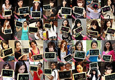 韓国で女の子の写真1440枚が1分ごとに自動で切り替わるあの「美人時計」っぽいフリーソフトが登場 - GIGAZINE
