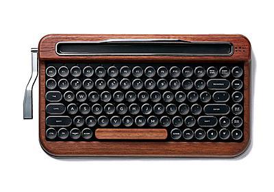 レトロ感がたまらない! タイプライターみたいなキーボード「PENNA KEYBOARD」登場 側面レバーもちゃんと使える - ねとらぼ