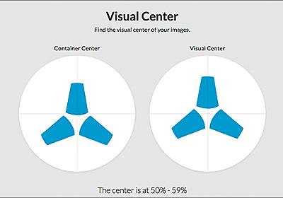 真ん中に配置したらバランスが悪い!画像の見た目のウェイトから中心を見つける方法 -Visual Center | コリス