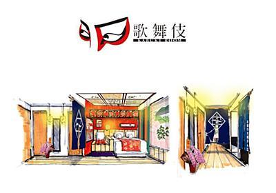 松竹とコラボした「歌舞伎ルーム」京都のホテルで展開 室内に人気演目の舞台背景あしらう - はてなニュース