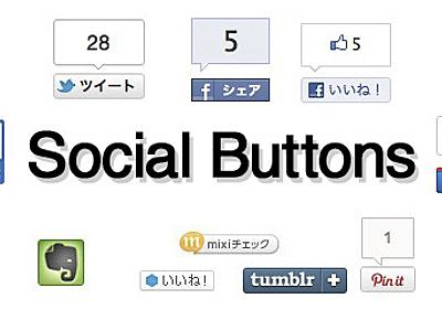 【更新】ソーシャルメディアに共有するボタンの設置方法(Twitter, facebook, mixi, GREE, Evernote, Google+, Tumblr, Pinterest, はてブ) [C!]
